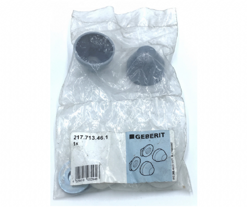 Geberit  Washers (217.713.46.1) And Cover Cap In Silver For Covering WC Fastenings